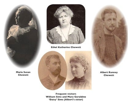 Portraits of members of the Chewett family.