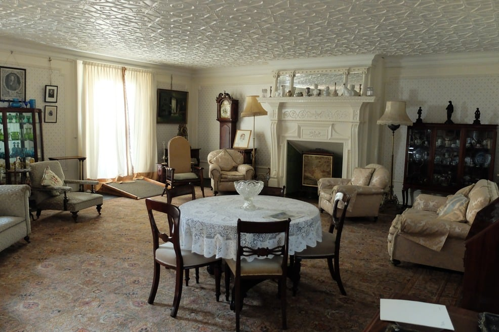The drawing room at Reveley Lodge