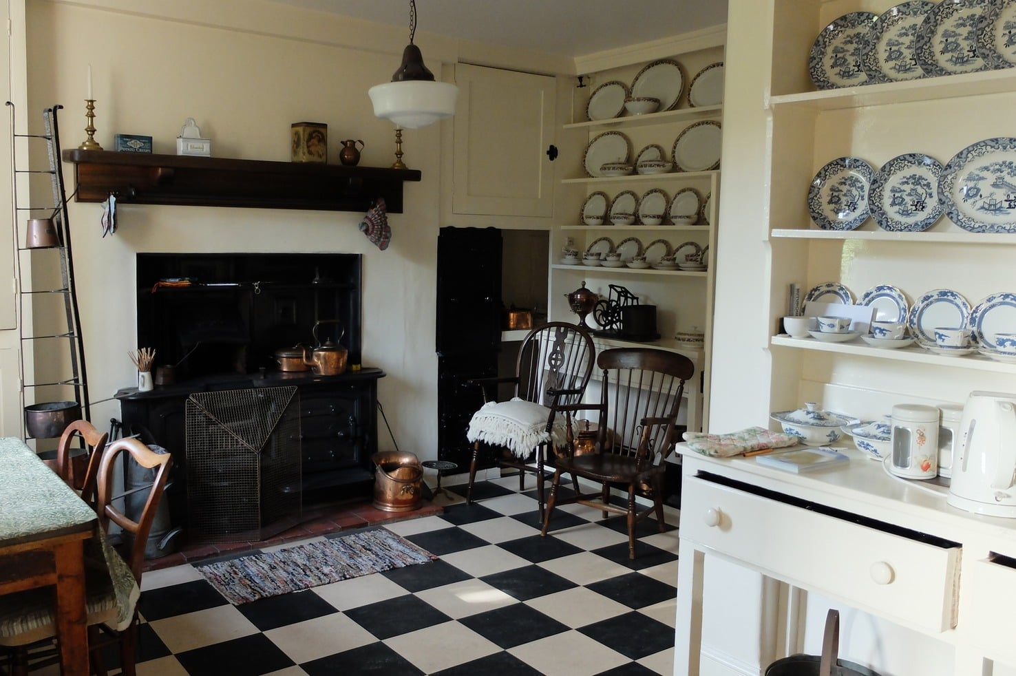The Victorian kitchen at Reveley Lodge