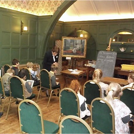 School children in Victorian dress taking part in our Victorian Experience