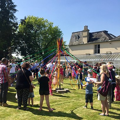 The maypole at the 2018 May Day event