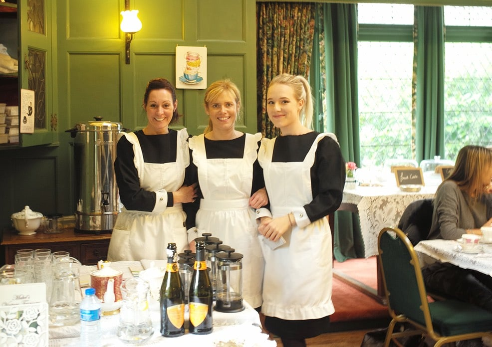 The staff of Mabel's Vintage Tearooms in period dress