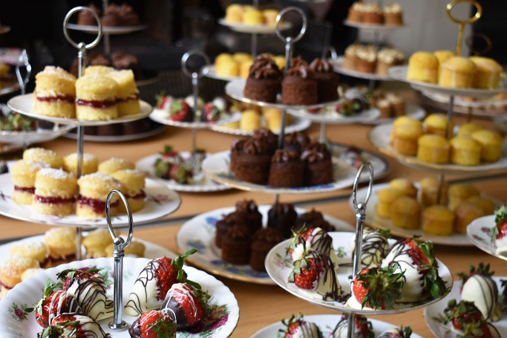 A selection of cakes and patisserie.