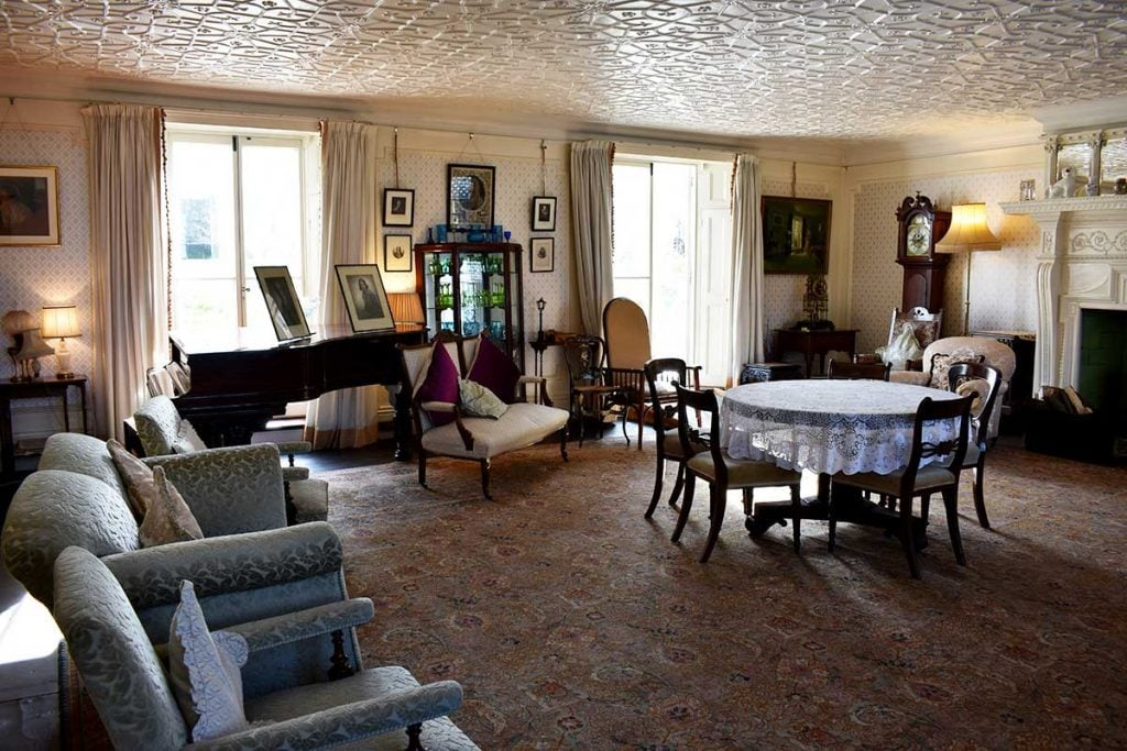 The drawing room at Reveley Lodge.