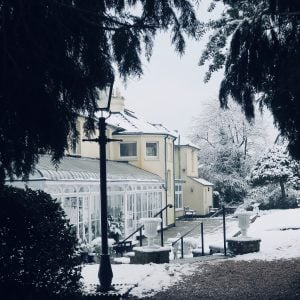 Reveley Lodge in the snow