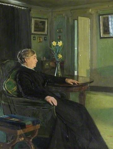 A painting of Maria Chewett in the drawing room at Reveley Lodge.
