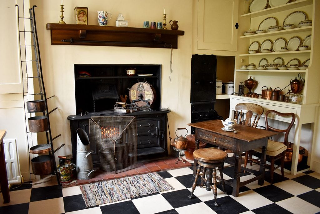 The Victorian kitchen at Reveley Lodge.