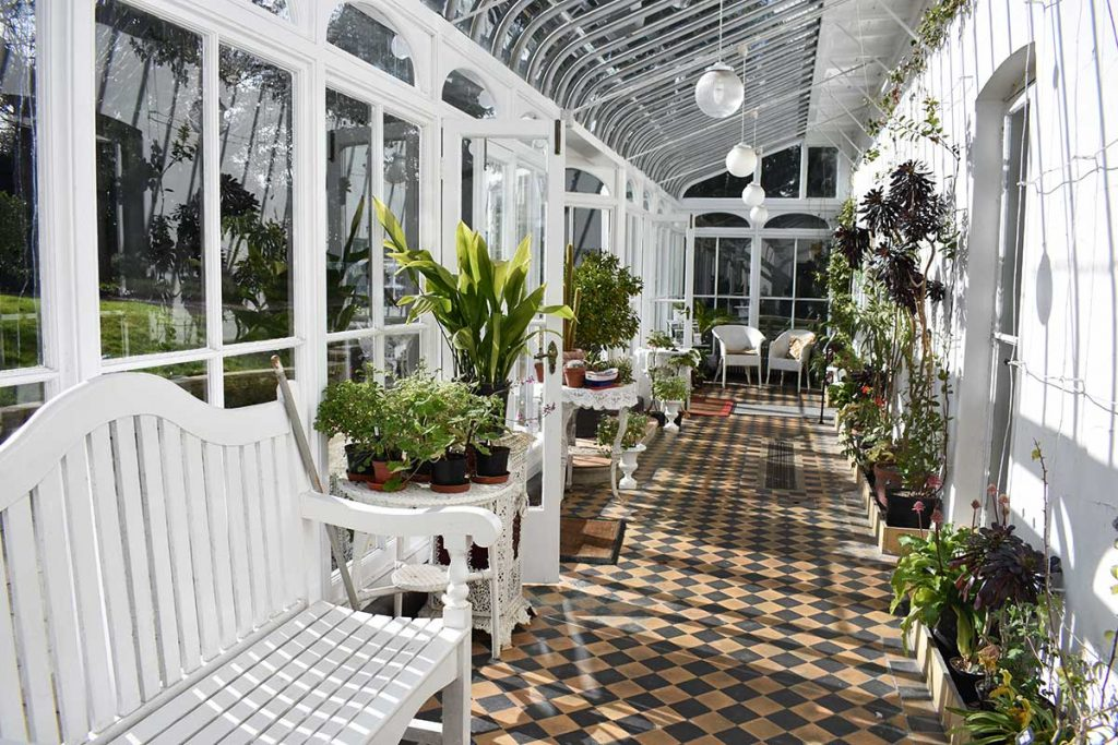 The conservatory at Reveley Lodge.