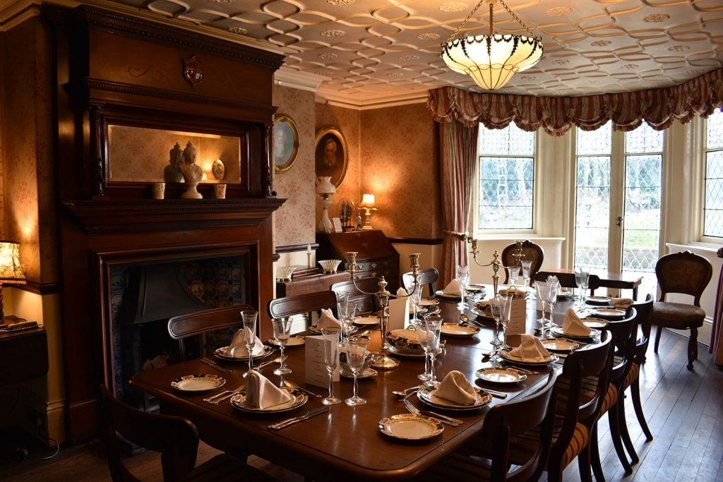 The dining room at Reveley Lodge.