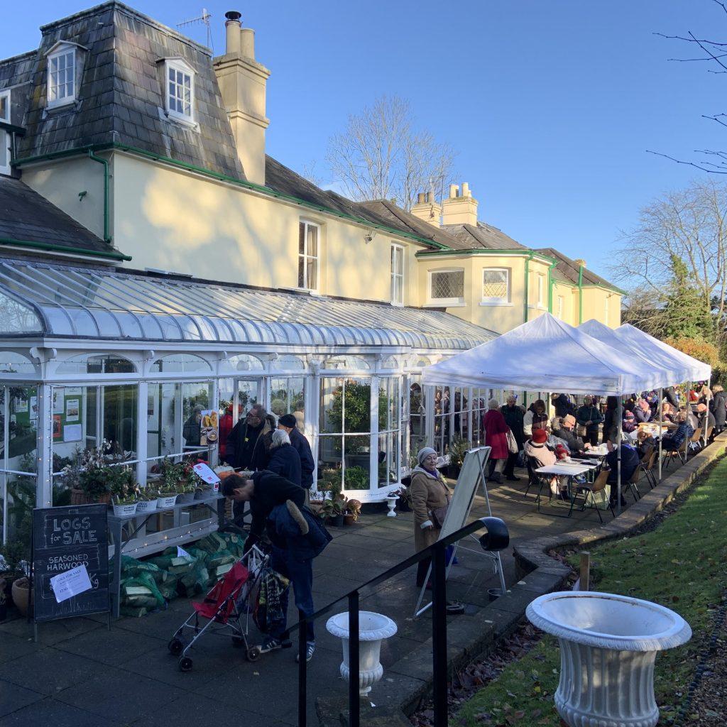 The terrace at the Christmas Fair 2019.